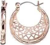 Lauren Conrad Filigree Hoop Earrings