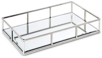 """88 Main 12"""" Glass Inset Jewelry Storage Silver"""