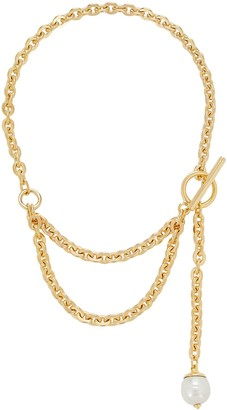 Ben-Amun Layered Pearl Lariat Necklace