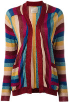 Laneus striped knit cardigan - women - Polyamide/Polyester/Viscose - 40
