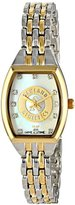 Game Time Women's MLB-WCL-OAK World Class Two-Tone Stones Analog Display Japanese Quartz Silver Watch