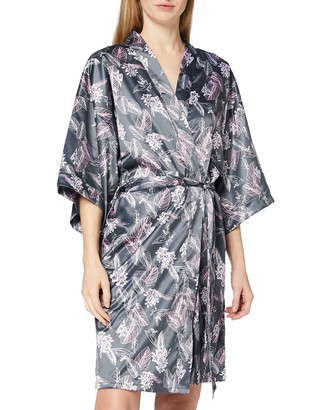 Schiesser Women's Mix & Relax Lounge Kimono Bathrobe