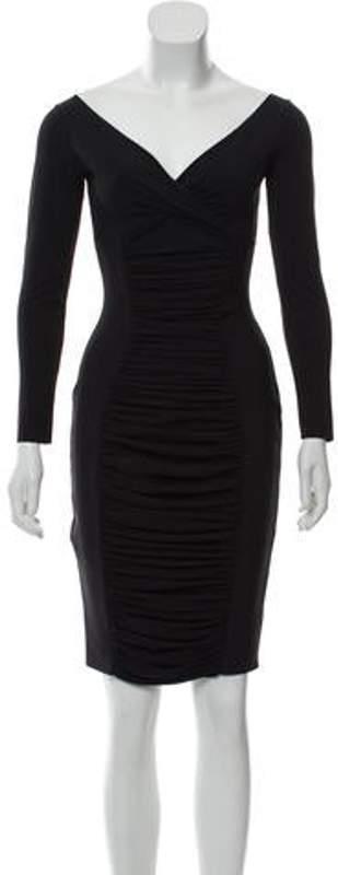Chiara Boni Ruched Mini Dress Black Ruched Mini Dress