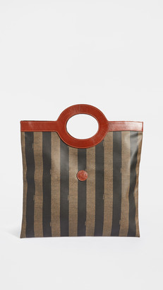 Shopbop Archive Fendi Pequin Tall Tote Bag