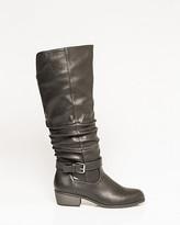 Le Château Leather-Like Almond Toe Knee-High Boot