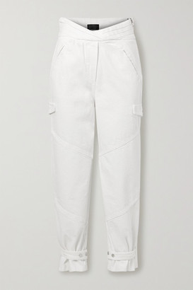 RtA Dallas High-rise Tapered Jeans - White