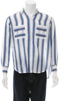 Paul & Joe Striped Button-Up Shirt