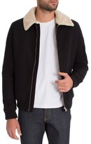 7 Diamonds Men's Stewart Faux Fur Collar Wool Blend Jacket