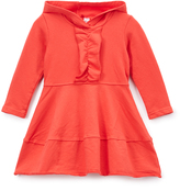 Nano Red Ruffle-Trim Hooded Dress - Infant, Toddler & Girls