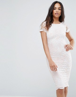 AX Paris Lace Insert Midi Dress-Multi
