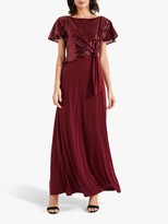 Phase Eight Rumi Knot Front Maxi Dress, Lipstick
