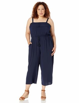 City Chic Women's Apparel Women's Plus-size Strapless jumpsuit with wide leg Pants