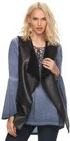 Rock & Republic Women's Sherpa Faux-Leather Vest