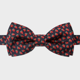 Paul Smith Men's Red Strawberry Pattern Silk Bow Tie
