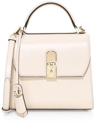 Salvatore Ferragamo Medium Boxyz Leather Top Handle Bag
