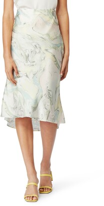 Habitual Azza Bias Cut Satin Skirt