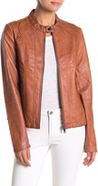 Sebby Faux Leather Racing Jacket