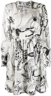 Stella McCartney Silk Abstract Print Dress