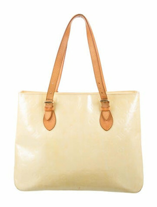 Louis Vuitton Vernis Brentwood Tote Lime