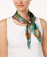 Echo Forest Scene Silk Diamond Scarf