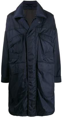 Ermenegildo Zegna mid-length panelled raincoat