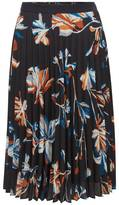 Plissée skirt in floral fabric