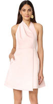 Halston Halter Neck Draped Dress