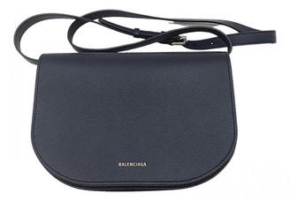 Balenciaga Ville Day Navy Leather Handbags