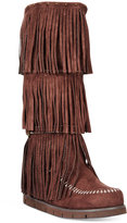 DOLCE by Mojo Moxy Crossbow Fringe Wedge Boots
