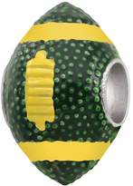 Persona Sterling Silver Football Green and Yellow Bead Charm