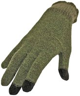 Luxury Divas Olive & Brown Heather Knit Touch Screen Texting Gloves