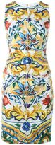 Dolce & Gabbana Majolica print fitted dress