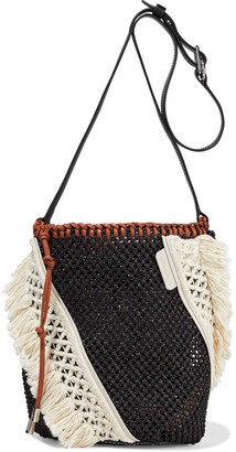 3.1 Phillip Lim Marlee Mini Macrame-paneled Woven Shoulder Bag