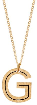 Burberry Hammered G-charm Gold-plated Necklace - Womens - Gold
