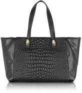 Class Roberto Cavalli True Diva Medium Black Quilted Eco Leather Tote bag