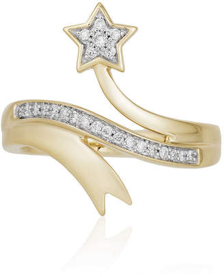 ENCHANTED .COM FINE JEWELRY BY DISNEY Enchanted Disney Fine Jewelry 1/5 CT. T.W. Genuine Diamond 10K Gold Tinker Bell Ring
