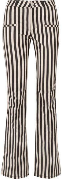 Altuzarra Serge Striped Cotton-blend Flared Pants - Black