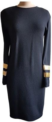 Gianfranco Ferre Black Wool Dress for Women Vintage