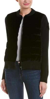 Moncler Wool & Cashmere-Blend Down Jacket