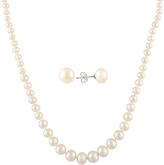 Bella Pearl Pearl & Sterling Silver Necklace & Stud Earrings