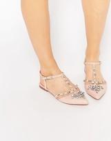 Asos LOTUS Embellished Pointed Ballet Flats