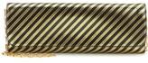 Balenciaga Pochette M metallic striped leather clutch