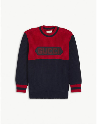 Gucci Branded wool-knit jumper 4-12 years