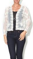 En Creme Lace Butterfly Cardigan