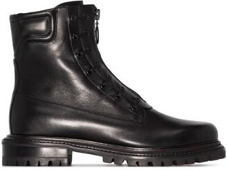 Aquazzura Front Zip Leather Boots