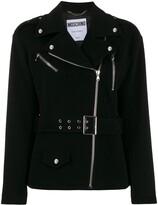 Moschino off-centre zipped jacket