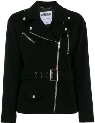 Moschino Off-Centre Zipped Jacket