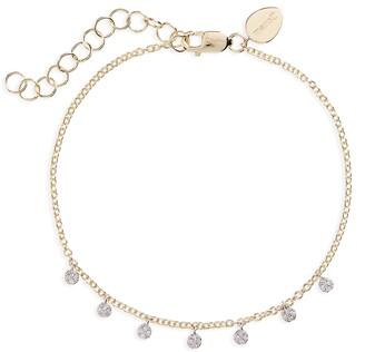 Meira T Diamond Disc Charm Bracelet