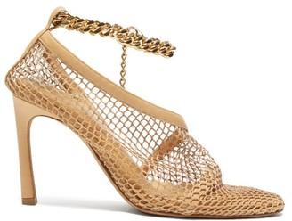 Bottega Veneta Anklet-embellished Mesh Pumps - Beige