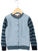Stella McCartney Girls' Wool Floral & Striped Cardigan